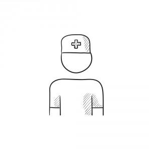 Sketch of a registered nurse